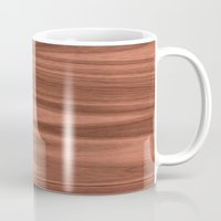 wooden Mugs featuring Wooden Structure  by MehrFarbeimLeben