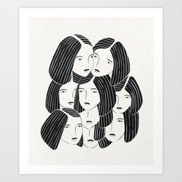 Multiple Girls Art Print