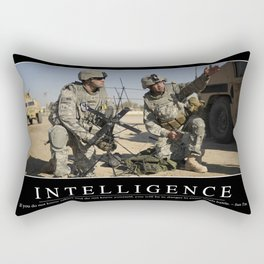 Intelligence: Inspirational Quote and Motivational Poster Rectangular Pillow