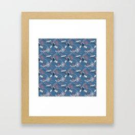 Lashes blue Framed Art Print