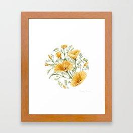 California Poppies - Watercolor Painting Framed Art Print