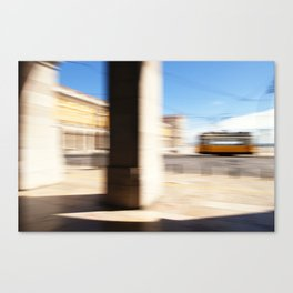 The Yellow Tram Canvas Print
