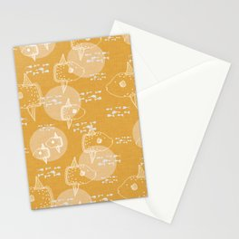 Mola Mola Yellow-Ocean sunfish Stationery Cards