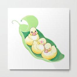 3 Little Ducklings Pea Boat Metal Print