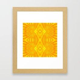 Orange Gold Sunburst Print Framed Art Print