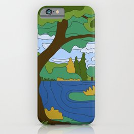 River Landscape iPhone Case