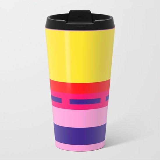 Bright Abstract I Metal Travel Mug
