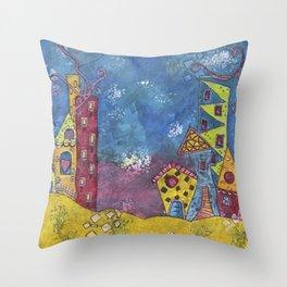 Funky City Throw Pillow