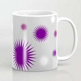 Star Burst Galaxy - Purple Grey White Coffee Mug