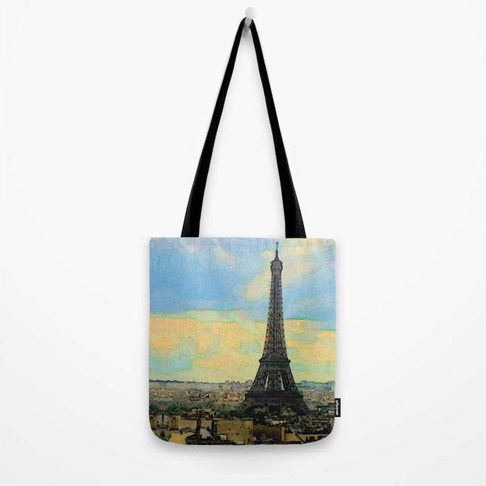 Watercolor Dream of Paris Tote Bag