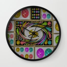 Party Eggs Wall Clock