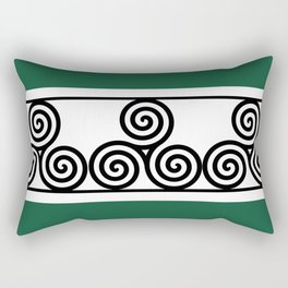 Turquoise Spiral Rectangular Pillow