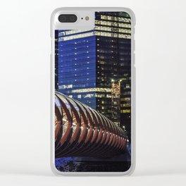 Calgary Peace Bridge Clear iPhone Case