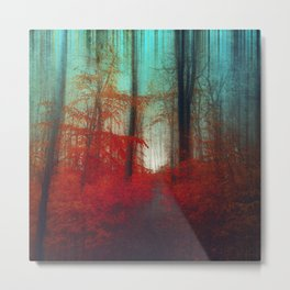 Red Forest Dream Metal Print