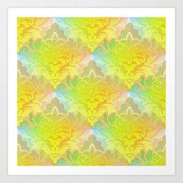 Damask Tapestry Pattern I Art Print