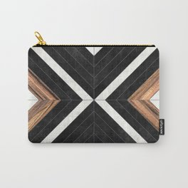 Urban Tribal Pattern No.1 - Concrete and Wood Carry-All Pouch