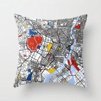 mondrian Throw Pillows featuring Tokyo Mondrian by Mondrian Maps