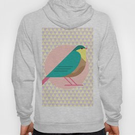 cute bird illustration Hoody
