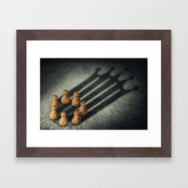 the pawns crown Framed Art Print