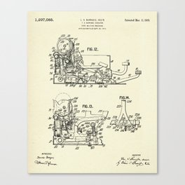 Type Writing Machine-1919 Canvas Print