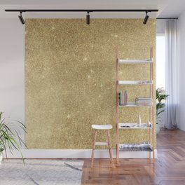 Elegant stylish faux gold glitter Wall Mural