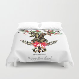 watercolor fashion Reindeer Duvet Cover
