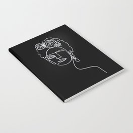 Frida Kahlo BW Notebook