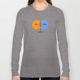 The Venn of Improv (Orange/Blue) Long Sleeve T-shirt