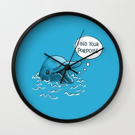 Find Your Porpoise Wall Clock