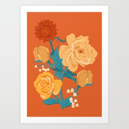 Paint by Number in Orange Art Print
