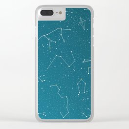 Starlight night constellations Clear iPhone Case