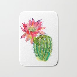 Blooming Dwarf Chin Cacti Bath Mat