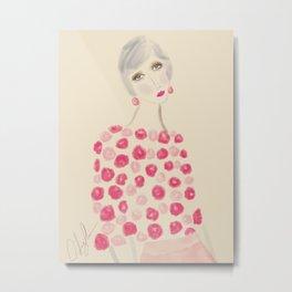 Woman in pink Metal Print