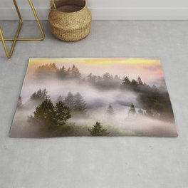 Misty Mount Tamalpais State Park Rug