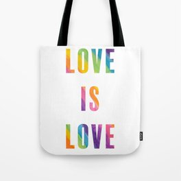 Love is Love with Rainbow Gradient Tote Bag