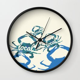 Maryland Blue Crab Local Wall Clock