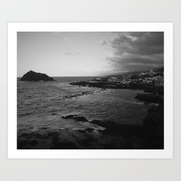 Garachico in black and white Art Print