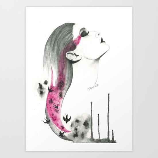 Human + nature Art Print