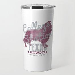 College Station Print Travel Mug