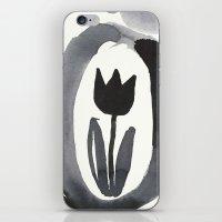 aelwen iPhone & iPod Skins featuring Black tulip by Zsofi Porkolab