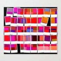 polaroid Canvas Prints featuring Polaroid by LoRo  Art & Pictures