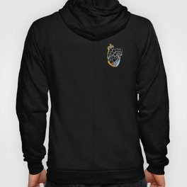 Fractal Heart with chromatic aberrations Hoody