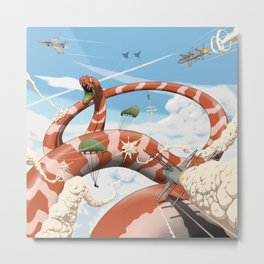 Attack of the Giant Muraena Metal Print