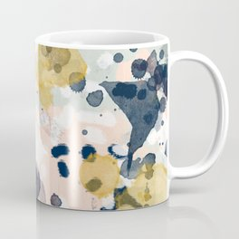 Esther - abstract minimal gold navy painting home decor minimalist hipster art Coffee Mug