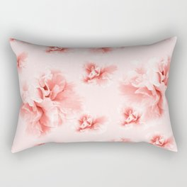 Living Coral Azalea Flower Dream #1 #floral #pattern #decor #art #society6 Rectangular Pillow