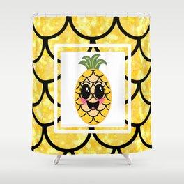 Perky Pineapple Shower Curtain