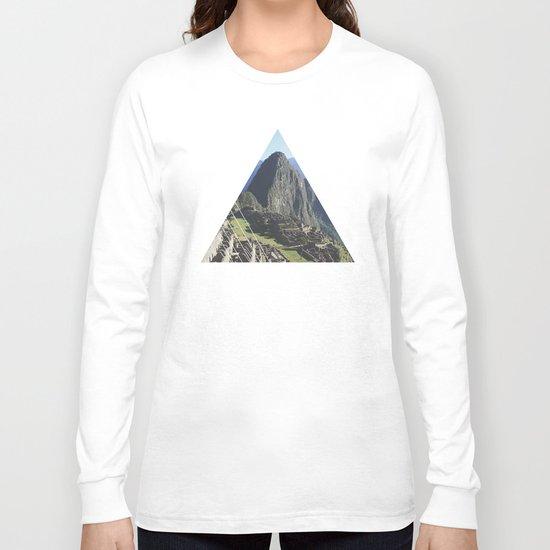 Machu Picchu - Geometric Photography Long Sleeve T-shirt