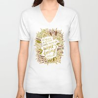 fitzgerald V-neck T-shirts featuring Zelda Fitzgerald – Fall Palette by Cat Coquillette