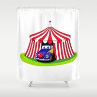 clown Shower Curtains featuring Clown by Maestral