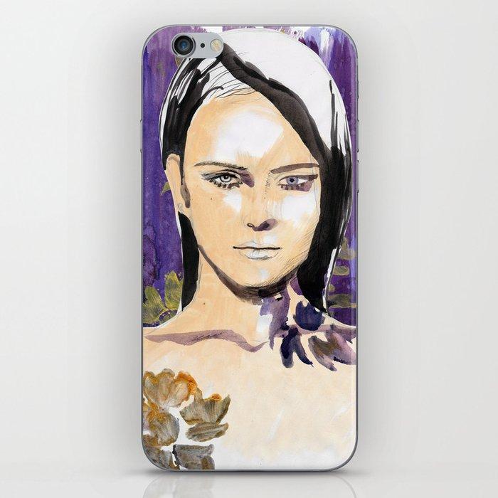 Purple beauty fashion lllustration iPhone Skin